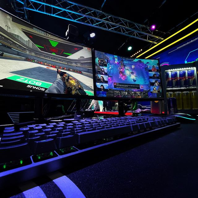 ESpot regularly holds competitive esports events in their Arena
