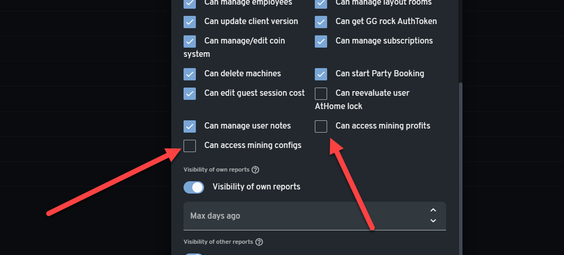 Adjust the employee roles if you want them not to be able to access the crypto mining feature