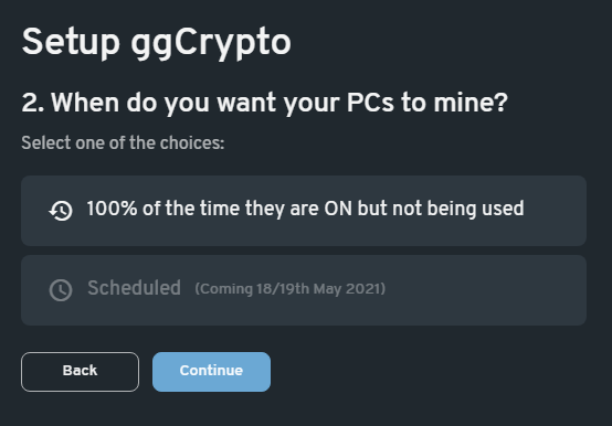 Filling in payment info for the ggCrypto crypto mining service-1