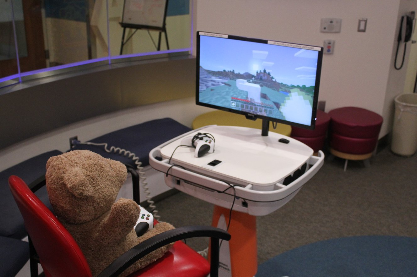 Hospitals can be a scare place for a child, but Gamers Outreach is there to change that