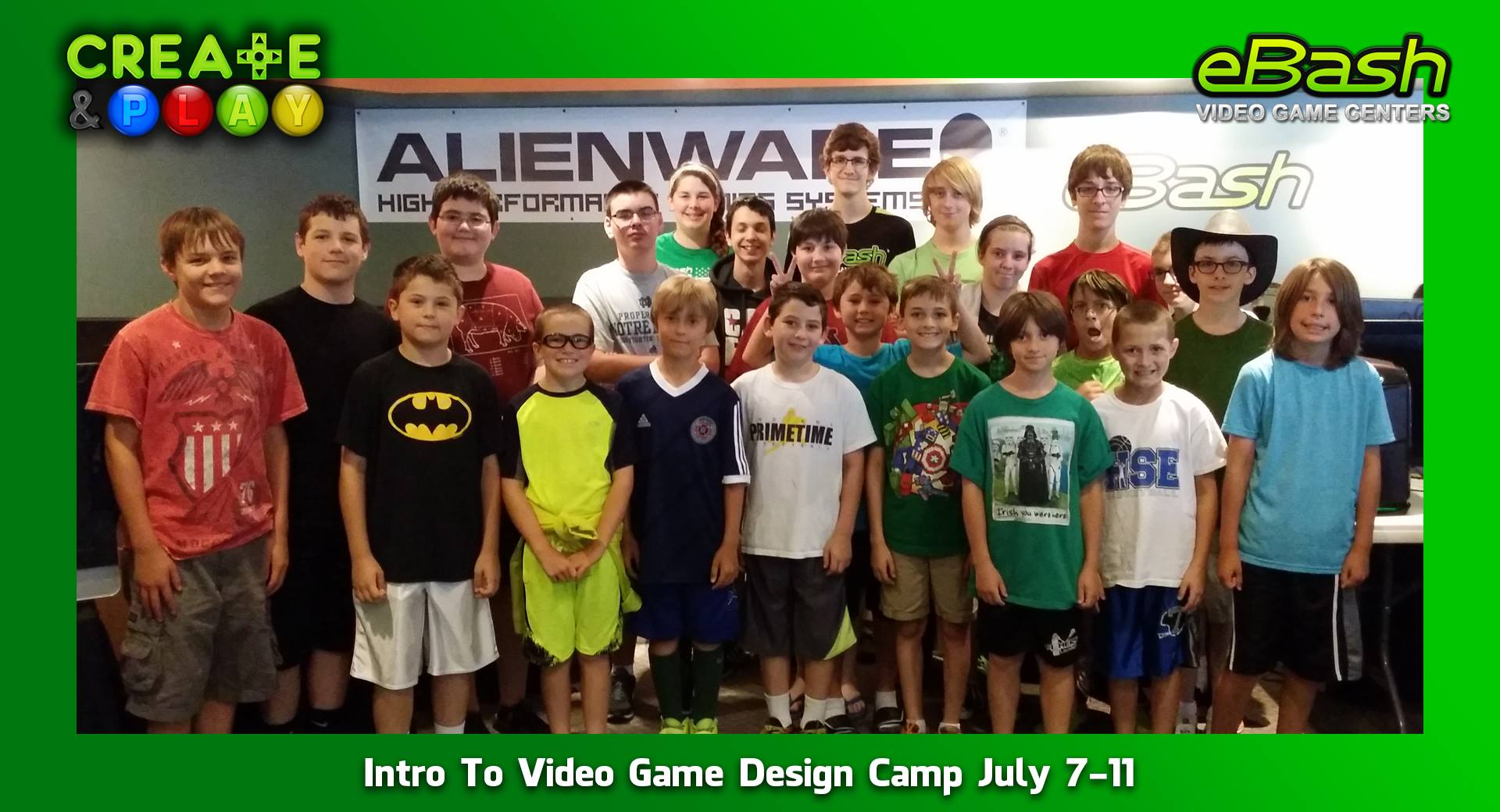 Intro To Video Game Design Camp July 7-11