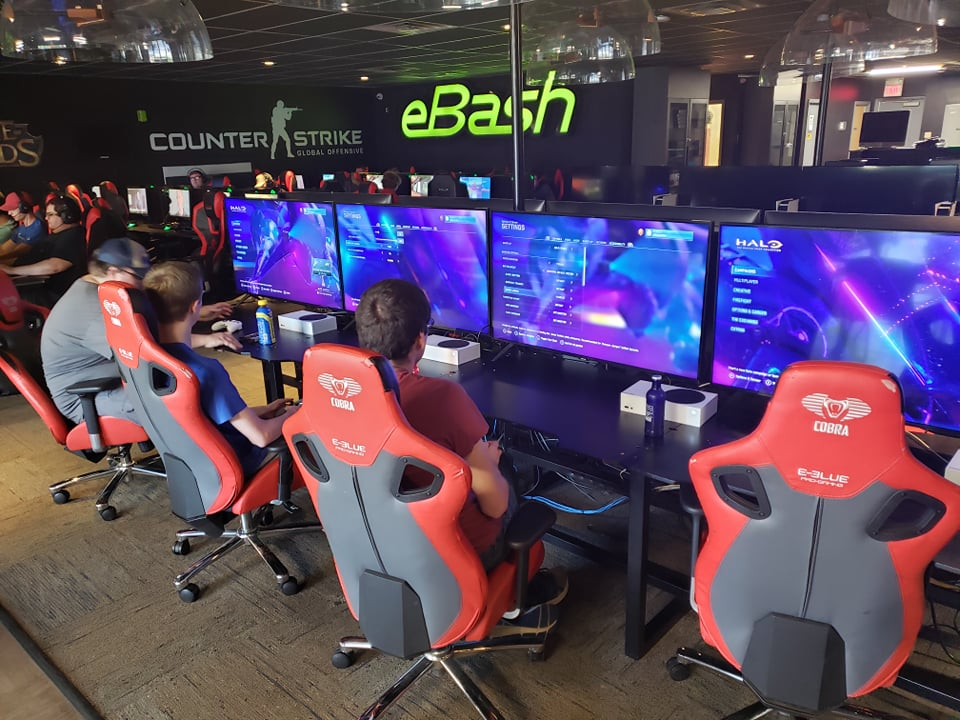 Locations utilize high end computers and tout fast internet for gaming services. (photo couresy of eBash FB page)