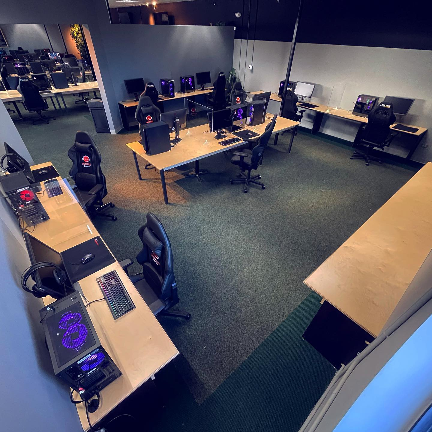 Private rooms can be used for various gaming or non-gaming events