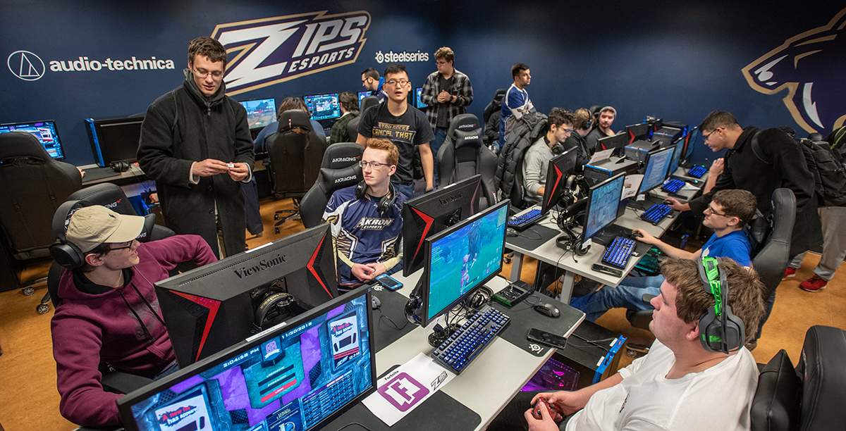 Students of the University of Akron have access to the best gaming technology in their venue