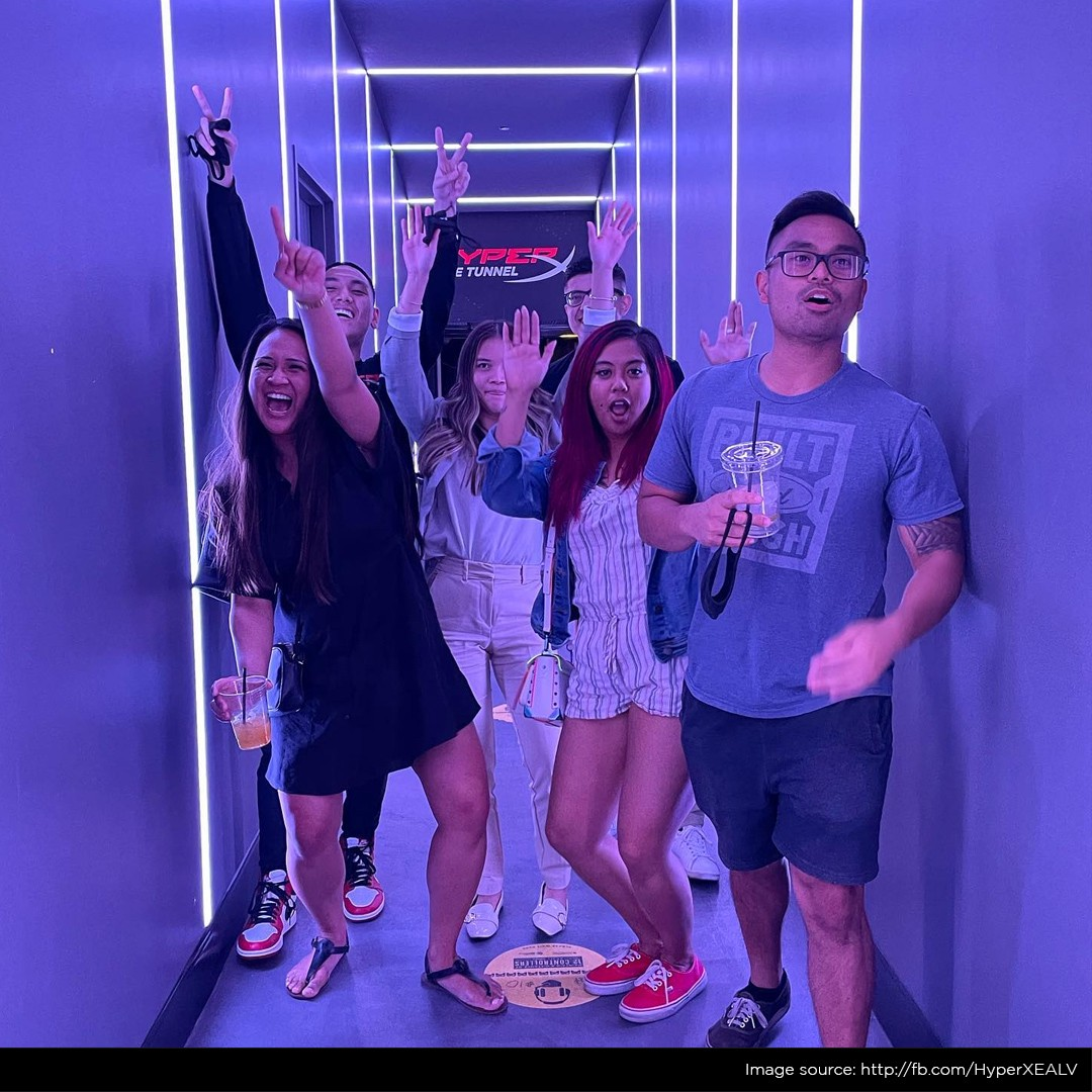 The famous HyperX tunnel