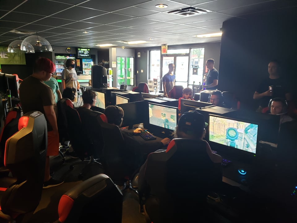 This is an example of a cyber cafe