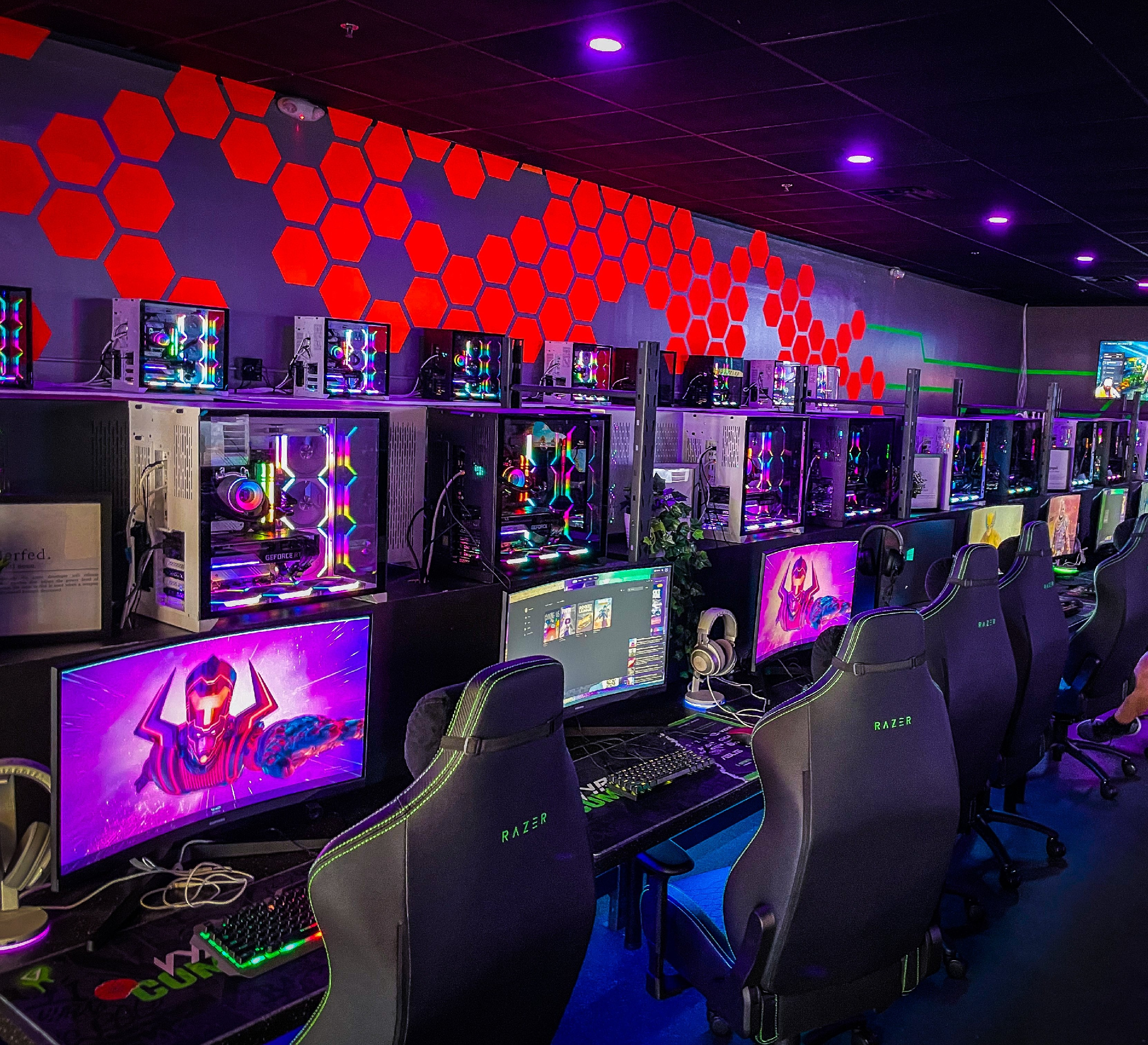 Vyral Teq has a dedicated arena for their gaming tournaments