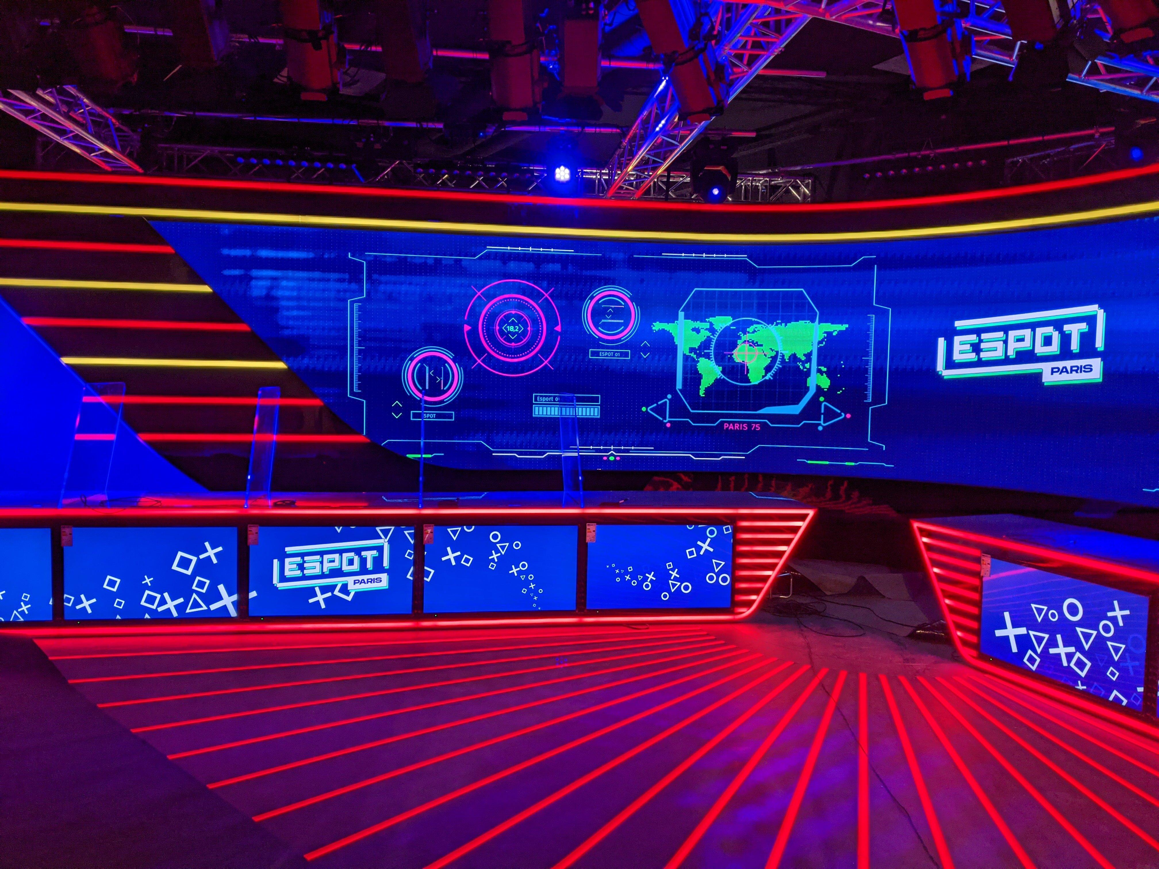 ESpot Arena's famous 30 square meters screen