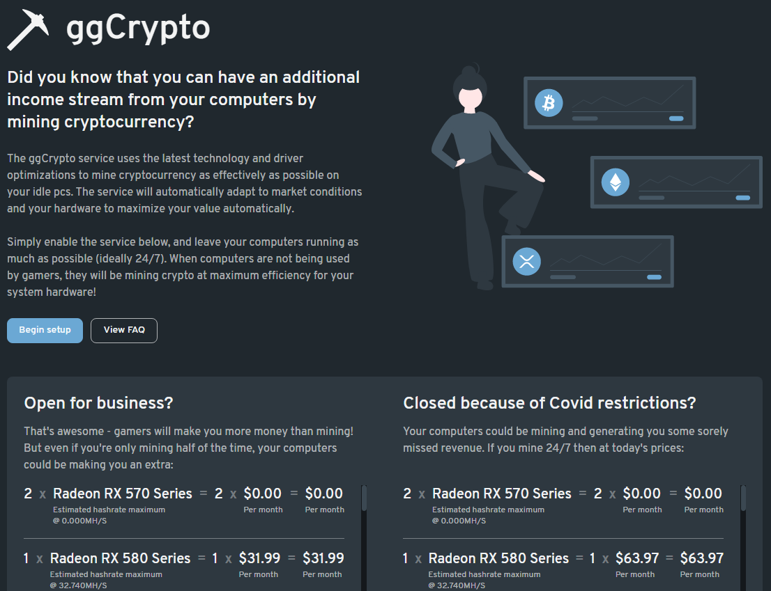 ggCrypto shows what an esports venue can earn with crypto