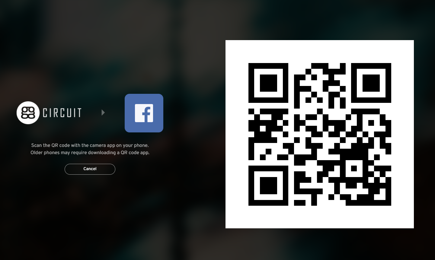 ggLeap client now has the ability to login a user via QR code