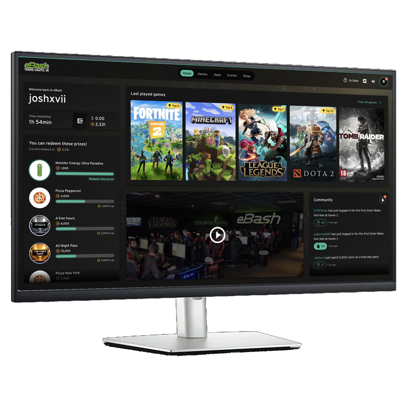 ggLeap software is a management system for esports venues that controls the desktop computers using internet access