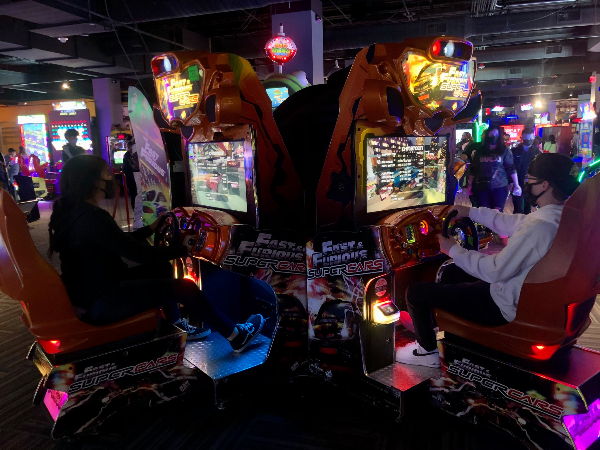 Gamers of all ages can play arcade games in GameWorks — Seattle