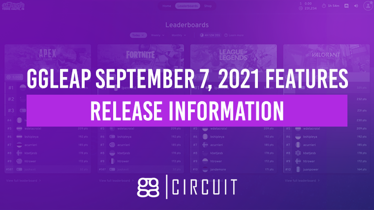 ggLeap September 7, 2021 features release information
